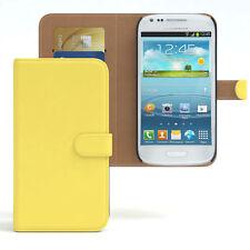 Tasche für Samsung Galaxy S3 Mini Case Wallet Schutz hülle Cover gelb