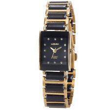 Luxury Unisex's Men's Lady Rectangle Quartz Alloy Couple Black Sport Wrist Watch