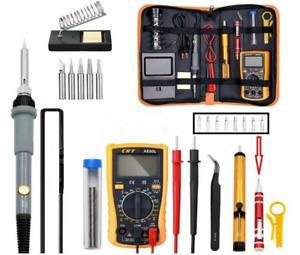 110V 60W Electric Soldering Iron Gun Tool Kit Welding Desoldering Pump Tools Set