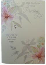 857 Single Pet Sympathy Card - On The sad loss of your precious Pet (Size G)
