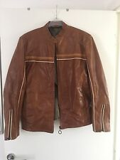 River Island men's brown leather jacket