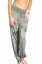 Ladies Harem Pants Womens Trousers Ali Baba Baggy Boho Hareem Size 8 10 12 14