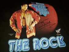 Vtg WWF WCW The Rock DWAYNE JOHNSON smackdown hotel T-Shirt Large