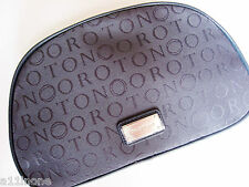 Brand New Authentic OROTON Navy Stencil Large Beauty Case Makeup Bag RRP $165