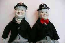 Laurel and Hardy Dolls Porcelain Vintage Entertainment Hollywood