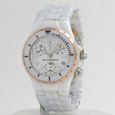 TechnoMarine TC White Ceramic Rose Gold MoonSun Chronograph Ladies Watch