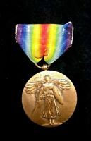 RARE ORIGINAL  WW1 AMERICAN FORCES VICTORY MEDAL-THE GREAT WAR FOR CIVILIZATION