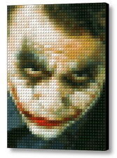 Batman The Dark Knight JOKER Lego Framed Mosac Limited Edition Numered Art Print