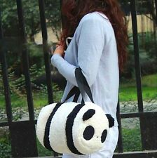 FD4153 Large Cute Soft  Plush Panda Handbag Travel Storage Shoulder Zipper Bag