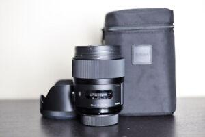 Sigma AF 35mm 1.4 DG Art FX Prime Lens w/ Case - For Nikon!