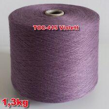 415 Violett TVU Ocean Nm 30/2 Baumwolle Acryl Strickgarn Häkelgarn Garn Kone