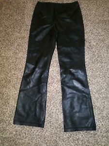 Wilsons Leather Pelle Studio Pants Black Soft Leather Size 2