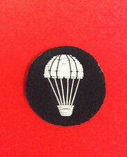 Black Parachute Trained Mess Dress or Uniform Badge Parachute Qualifacation