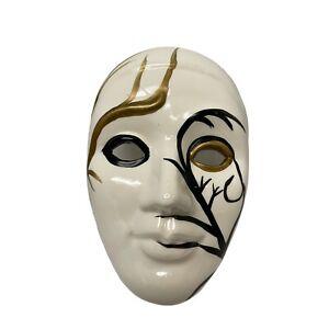 "Ceramic Clown WalMime Mardi Gras Masquerade ll Hanging Art  7 1/2"" x 2"" x 5"""