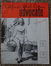 Vintage 1946 California Retail Grocers Advocate Magazine - Cash Grocery List