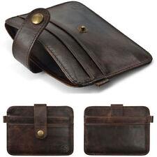 Mens Leather Money Clip Credit Card Wallet Holder Slim Pocket Case L7