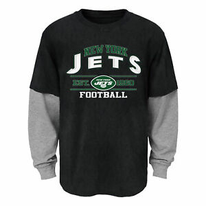 Outerstuff NFL Youth (4-18) New York Jets Long Sleeve T-Shirt