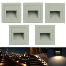 Outdoor 3W IP65 LED Pathway Wall Plinth Stair Step Hall Lamp Corner Deck Lights