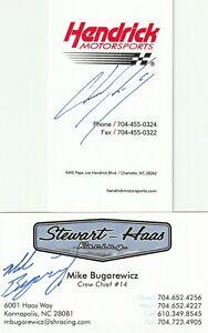 LEGENDARY CREW CHIEF CHAD KNAUS SIGNED BUSINESS CARD JIMMIE JOHNSON HENDRICK