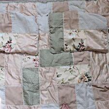 Croscill Savoir Faire Full Size Comforter Matching Pillow Shams Patchwork Floral
