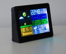 Funk Wetterstation Thermometer Barometer Uhr Farbdisplay Innen + Außensensor