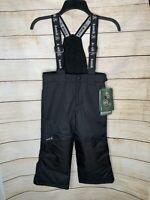 Kamik Kids Solid Bib Snow Pants Ski Snowboarding Black 8000mm Size 5 NEW
