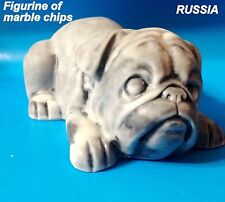 English Bulldog figurine Dog marble chips made in Russia