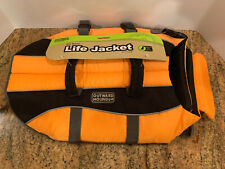 NWD Outward Hound DOG LIFE JACKET Saver Preserver Safety Vest ORANGE MEDIUM