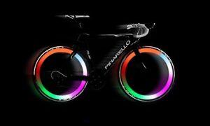 2 X MULTI COLOUR Bike Bicycle Cycling Wheel Spoke Wire Tyre Bright LED Flash