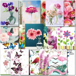 Pack of 20 Mixed Notecards Notelets Note Cards Blank Inside Message Cards
