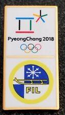 2018 PyeongChang Olympic FIL FEDERATION INTERNATIONAL LUGE NOC pin