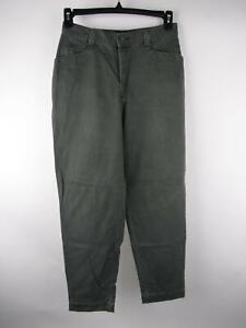Lee Casuals Women's sz 12 Solid Green Cotton Zip Fly Vintage Boyfriend Jeans