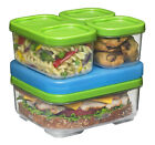 BPA-Free Plastic Sandwich Containers Kit Ice Pack Kids Lunch Box School Picnic