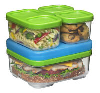 BPA-Free Plastic Sandwich Containers Kit Ice Pack Kids Lunch Picnic Food Storage