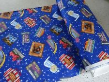 NEW Timeless Treasures quilt-craft Fabric Retro Drive-In Movie Theaters  BTY