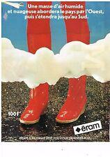 PUBLICITE ADVERTISING 054 1981  ERAM  bottes caoutchouc