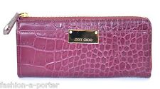 JIMMY CHOO LONDON REINE LEATHER CROC EMBOSSED WALLET PURSE BNWT BOX PERFECT GIFT