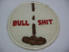 BULL SH** Embroidered Harley Biker Patch