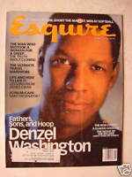 ESQUIRE May 1998 Denzel Washington John Mccain Paul Assenmacher Mitterrand
