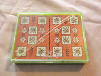VINTAGE 2 DECKS HALL MARK  WHITMAN PINOCHLE PLAYING CARDS IN PLASTIC CASE