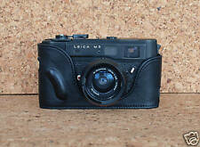 Mr. Zhou Black Leather Half Case for Leica M5 Camera with 2 or 3 Lugs