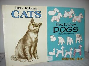 How do draw CATS & How to Draw DOGS  - set of TWO books paperback Good condition