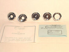 1967-72 Pontiac GTO Dash Switch Bezel Set 5 piece  Show Quality