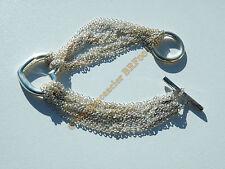 Bracelet Femme Plaqué Argent Cœur Multi Chaine Toggle