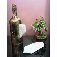 Wooden Handicraft Handmade Antique Look Bottle Tissue Paper Holder Box Gift Item