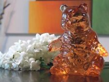 MOSSER ART SOLID GLASS BEAR FIGURINE PEACH COLOR