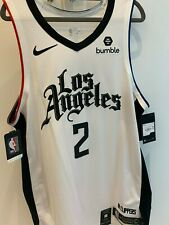 Authentic Nike Kawhi Leonard Los Angeles Clippers City Edition Jersey with Patch