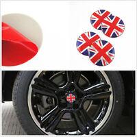 4 x Colourful Britain UK Flag Emblem Car Wheel Center Hub Caps Stickers For Mini