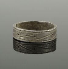 LARGE ANCIENT MEDIEVAL SILVER RING - CIRCA 14th/15th Century AD
