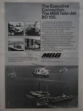 1/75 PUB MBB HELICOPTERE BO 105 OFFSHORE PHI HELICOPTER ORIGINAL AD